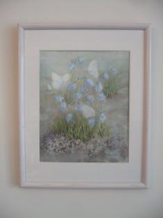 Bluebells in white
