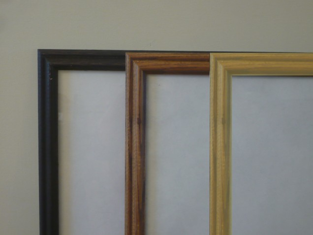 Frames for Mountain Cabin espresso, wood, gold