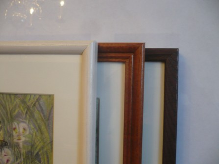 Frames for wildflower prints white, wood, espresso