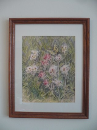Indian Paintbrush in wood